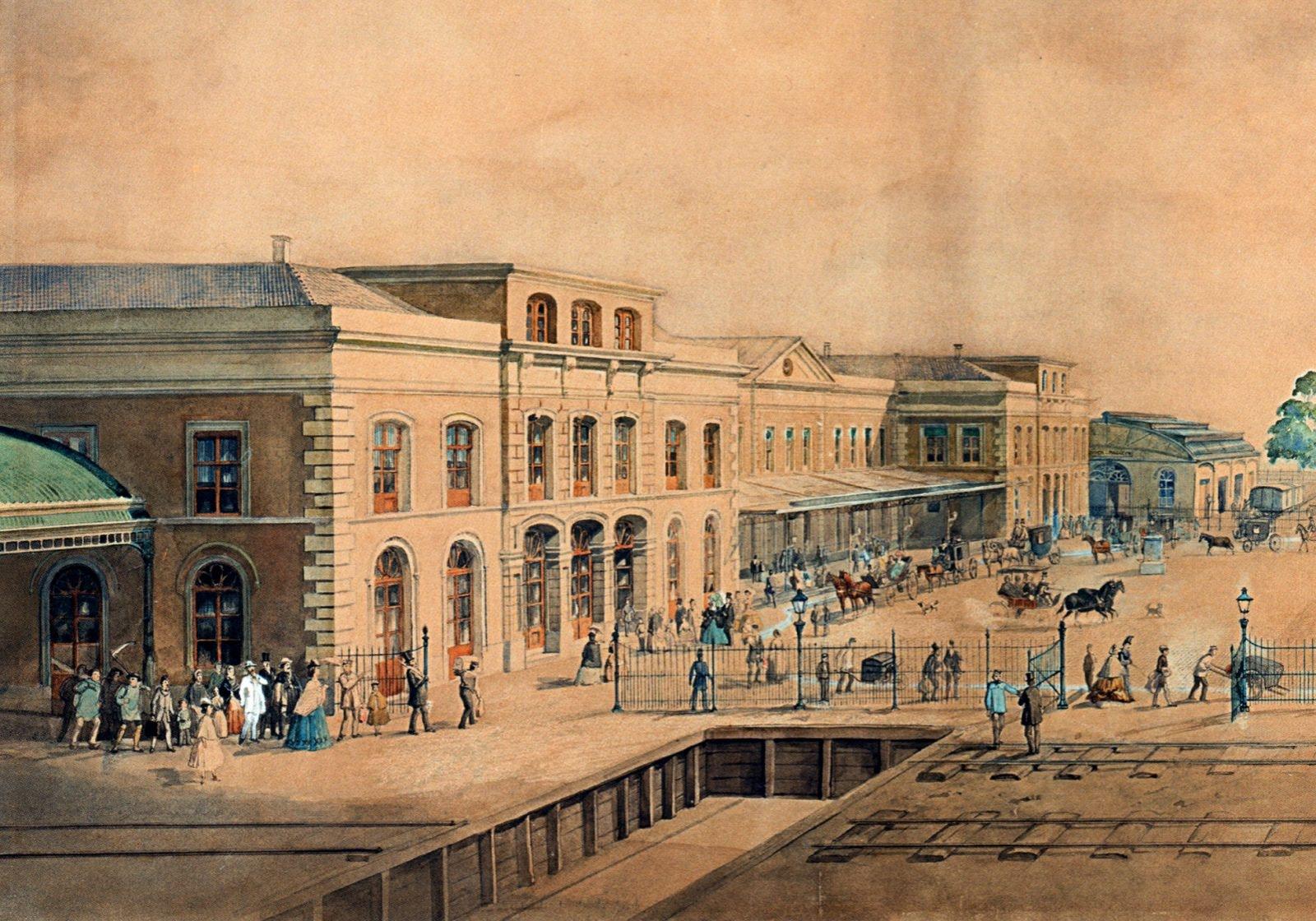 Utrecht Centraal in 1855