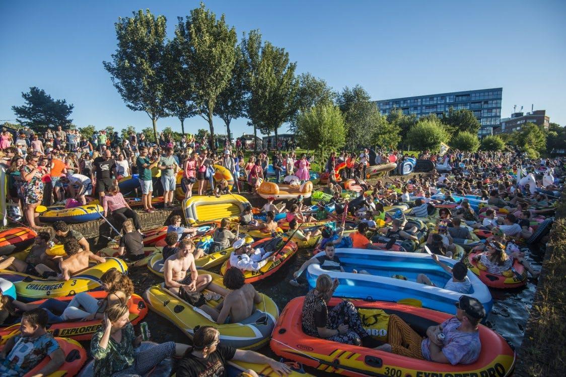 Rubberboot Missie wordt betaald evenement Utrecht Drijft; 11 augustus eerste editie