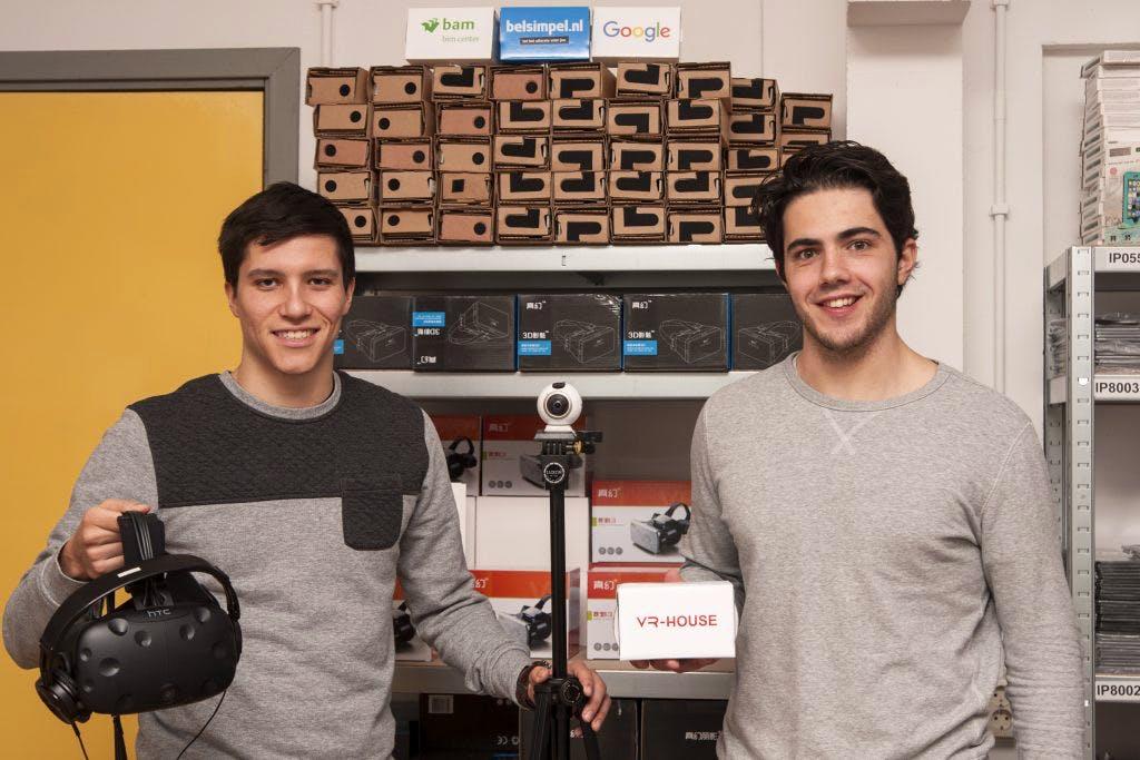VR-House van Nick Kole (24) en Laurens van Roomen (22): na nog geen jaar al Google en KLM als klant