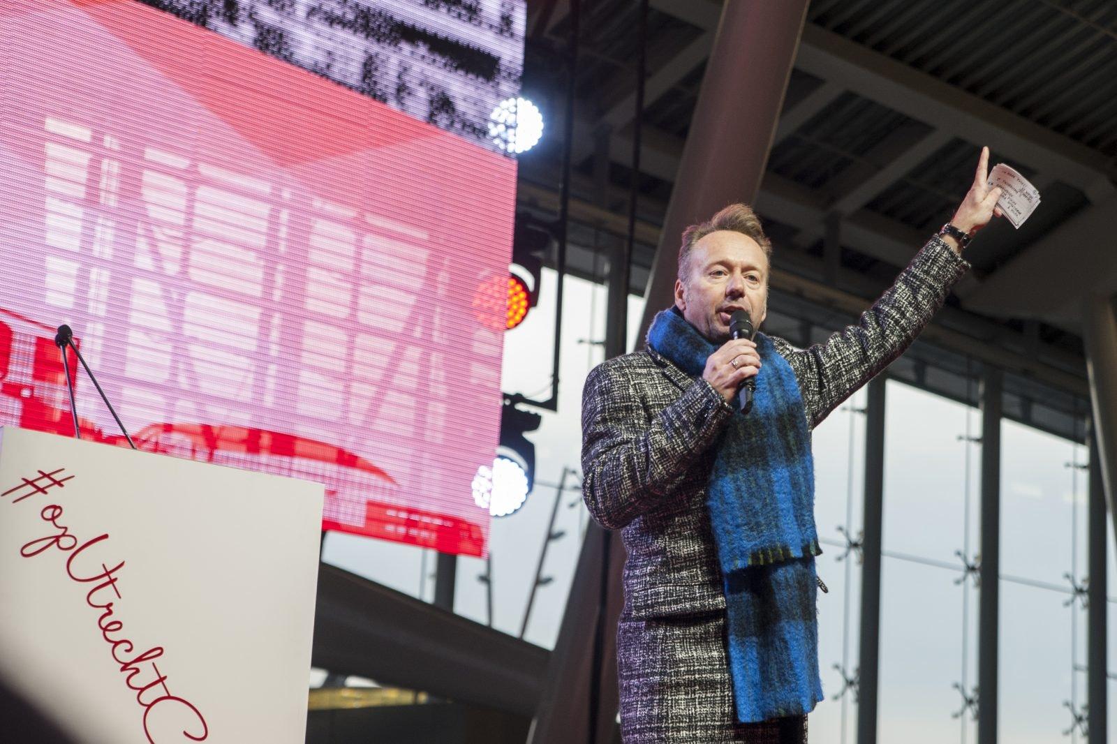 Joris Linssen presenteerde de officiële opening van Utrecht CS