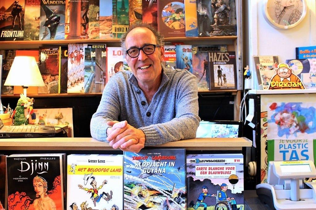 """Op bezoek bij stripwinkel Blunder: """"Ik maakte van mijn hobby mijn werk"""""""