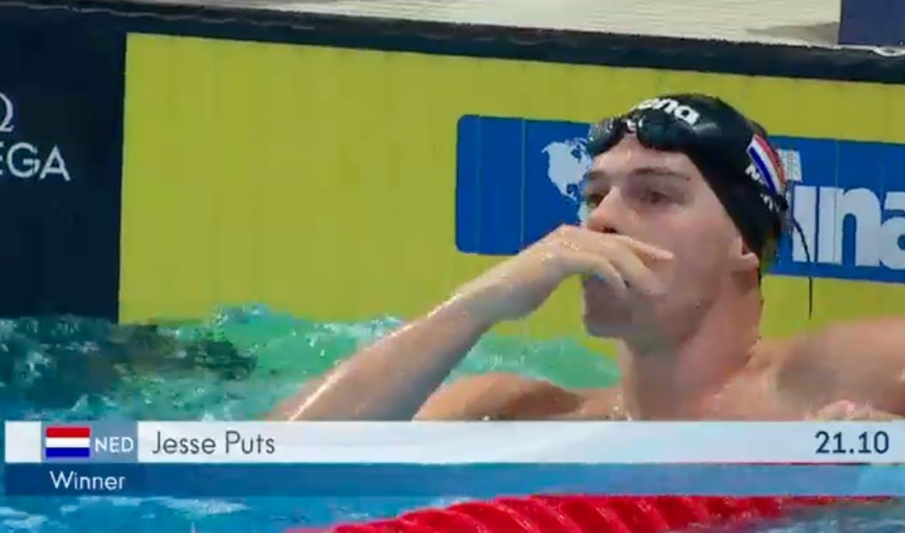 Jesse Puts verrassend wereldkampioen 50 meter vrije slag