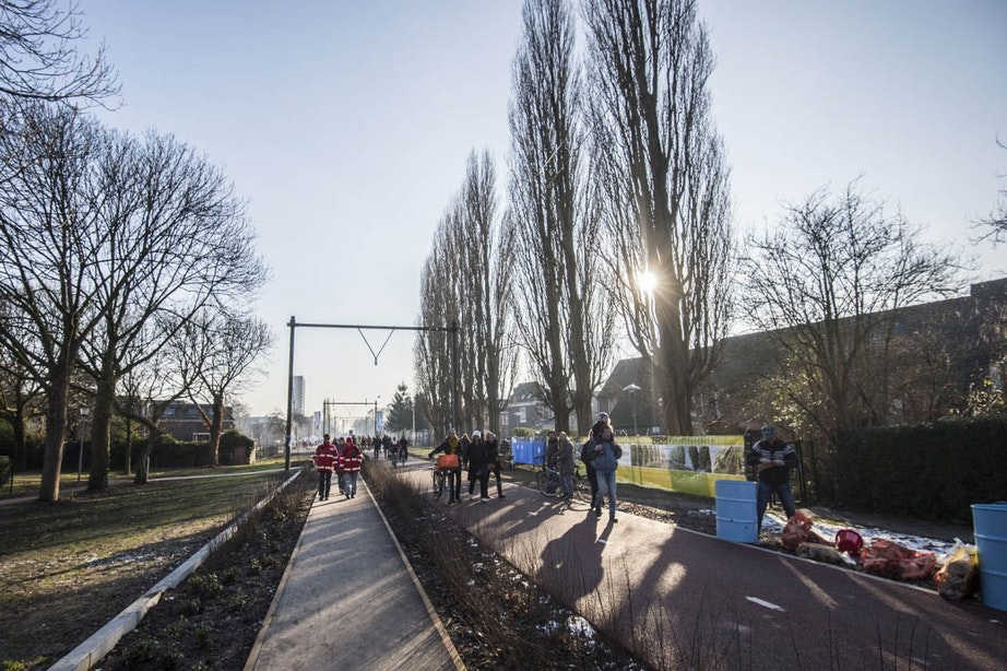 Start aanleg laatste gedeelte park Oosterspoorbaan