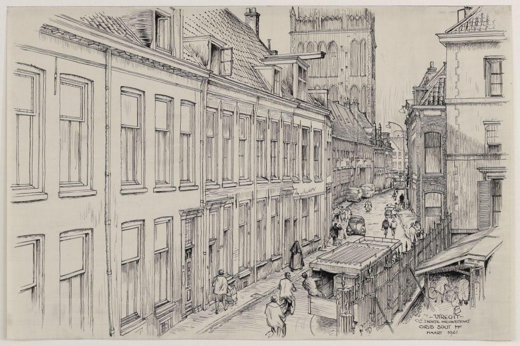 De getekende stad: verbreding van de Korte Nieuwstraat