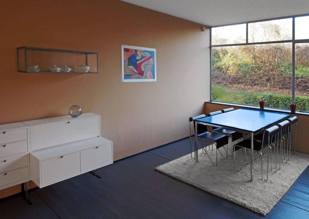 Eethoek in gereconstrueerde modelwoning (Arjan den Boer)