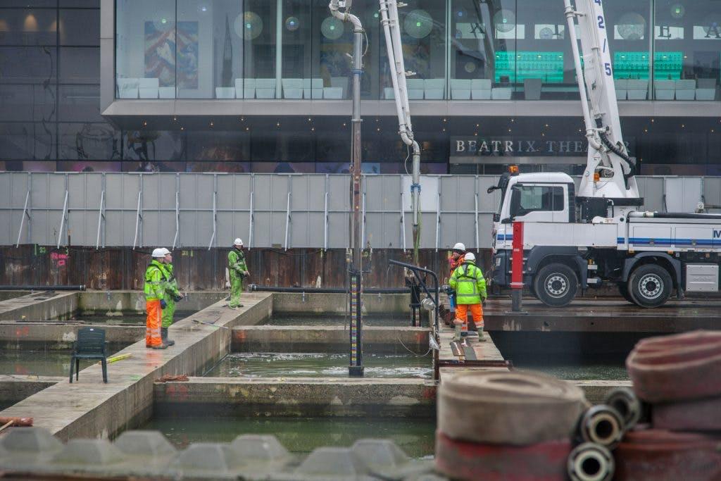 Foto's: Acht miljoen liter beton storten onder het Jaarbeursplein