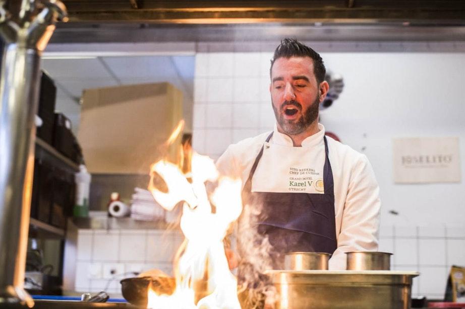 De werkplek van Vito Reekers: chef de cuisine van Karel 5