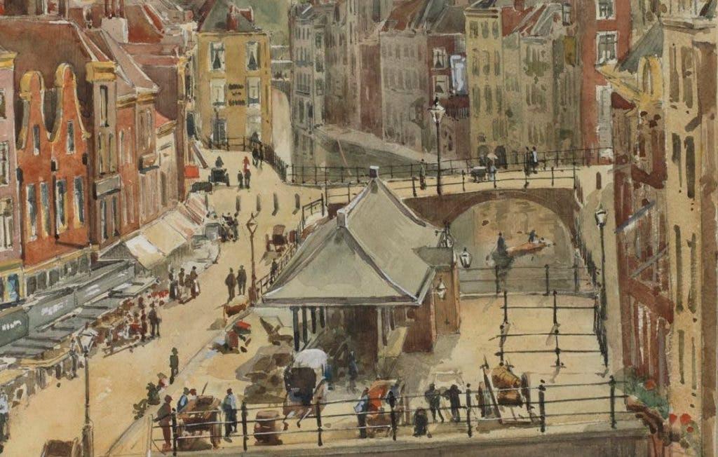 De getekende stad: De Vismarkt in 1891