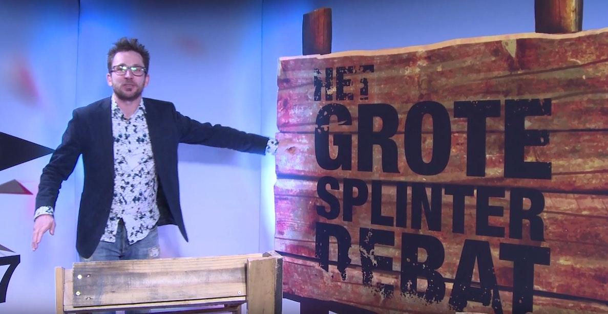 Utrechter Tom Staal presenteert Het grote splinter debat