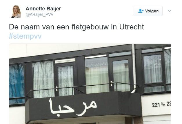 PVV-tweet over Kanaleneiland belachelijk gemaakt op Twitter