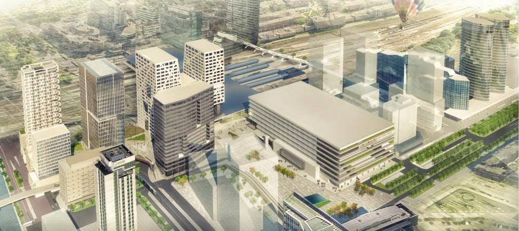 In beeld: Nieuw ontwerp Stadsplateau (Forum) Centraal Station gepresenteerd