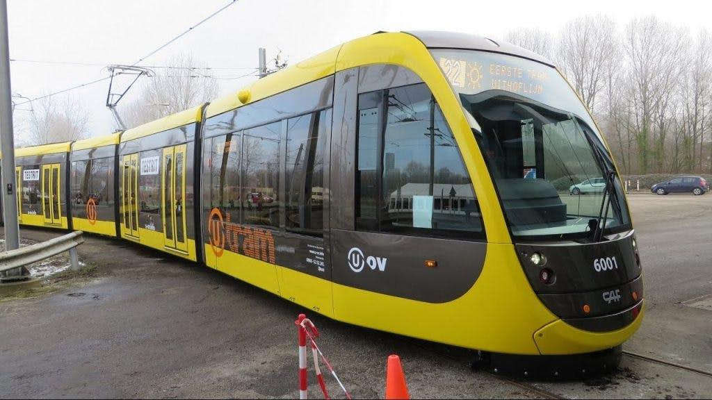 Trams Uithoflijn binnenkort overdag rijdend te zien