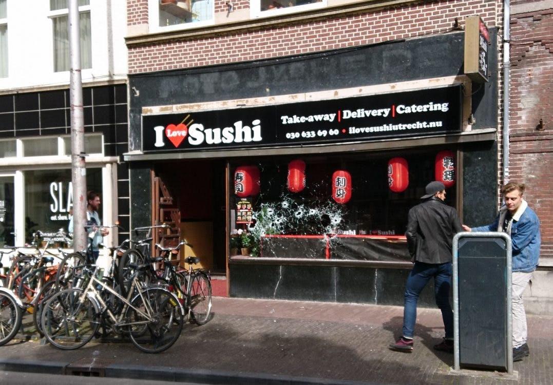 Sushi-restaurant op de Voorstraat weer beschoten