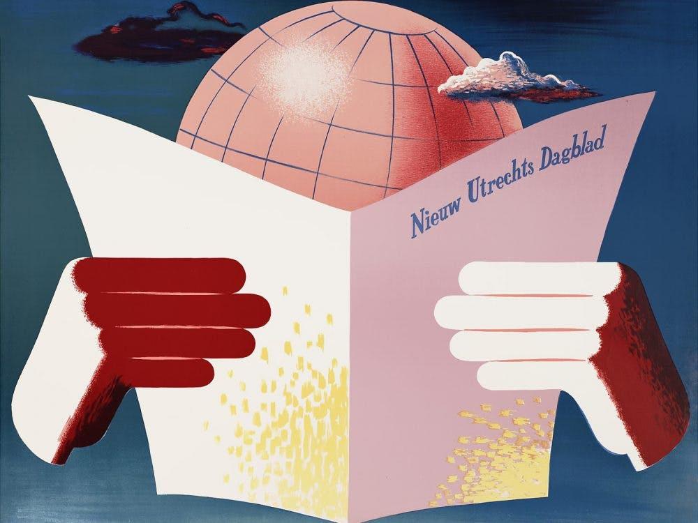 Utrechtse affiches: 'Het Parool van Utrecht', 1949-1982