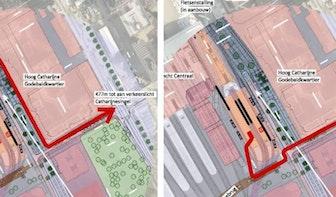 In kaart: de enorme looproute vanaf de toekomstige tramperrons op Utrecht Centraal