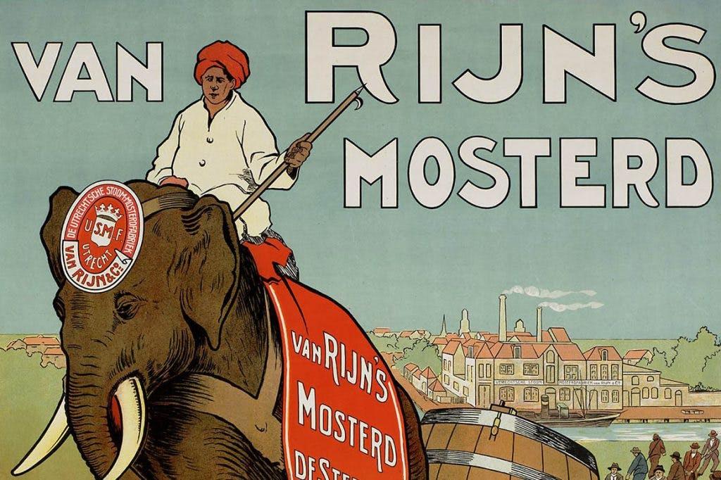 Utrechtse affiches: Utrechtse mosterd, sterk als een olifant