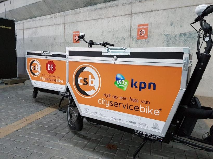 E-bakfiets vervangt busje: 'De bereikbaarheid in het centrum is ontzettend slecht'