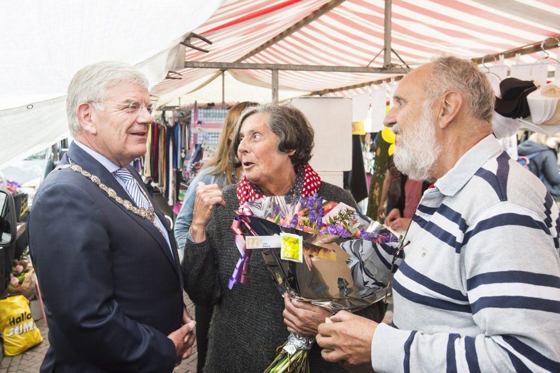 100-jarig jubileum op de Lapjesmarkt in Utrecht
