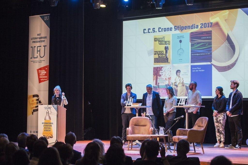 C.C.S. Crone Stipendia uitgereikt tijdens literatuurfestival in TivoliVredenburg