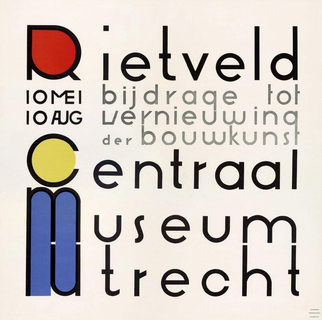 Utrechtse Affiches: Rietveld als affiche-ontwerper