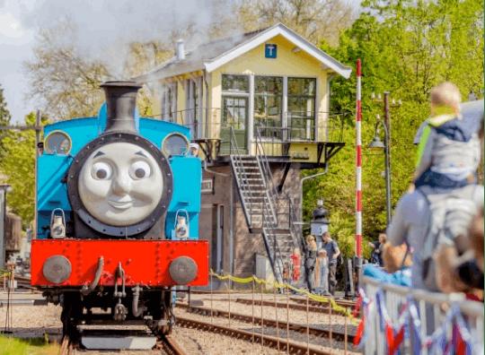 De wereldberoemde stoomlocomotief Thomas komt naar het Spoorwegmuseum