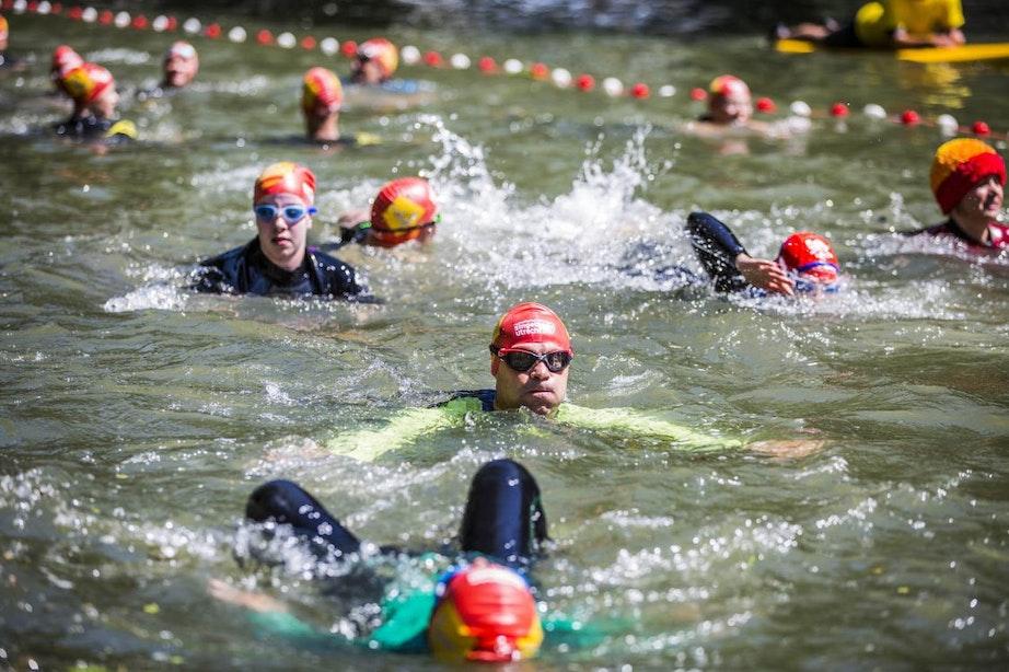 Foto's: Zwemmen voor het goede doel tijdens SingelSwim Utrecht