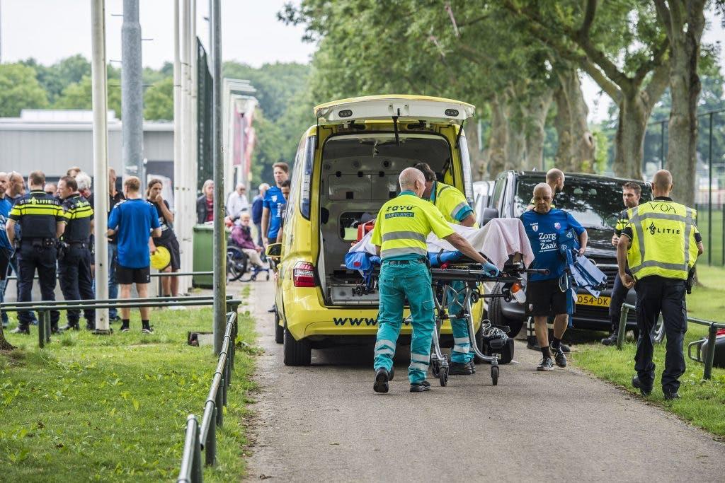 Foto's: Bizar ongeluk FC Utrechter Ramon Leeuwin op trainingscomplex