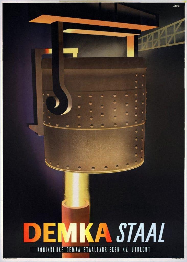 Utrechtse Affiches: DEMKA Staal, 'een krachtig stuk werk'