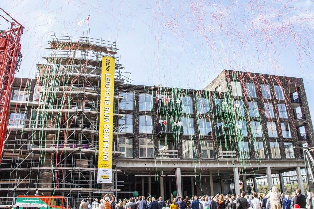 Hoogste punt bereikt bij bouw Leidsche Rijn Centrum