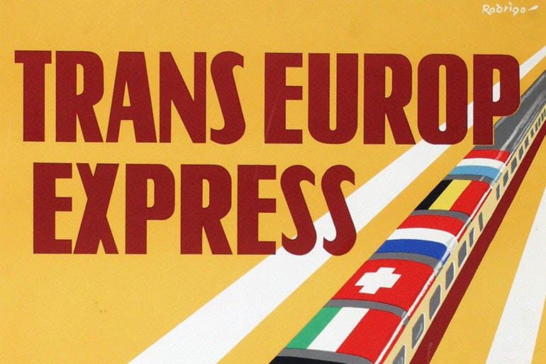 Utrechtse affiches: De Trans Europ Express, een Utrechts idee