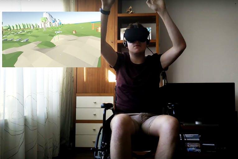 Utrechtse studenten winnen ProjectB Challenge met VR-spel voor rolstoelgebruikers