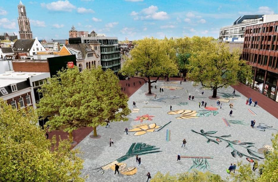Nieuw kunstwerk Vredenburgplein bekend: 'Markt Mozaïek'