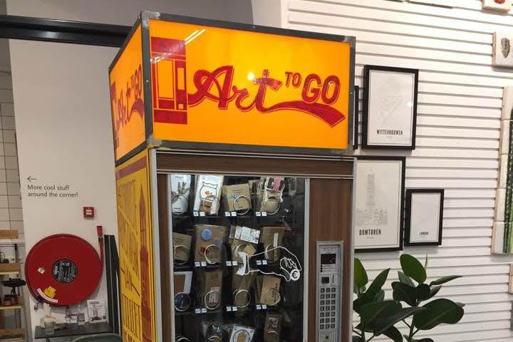 Kunstautomaat op de Neude