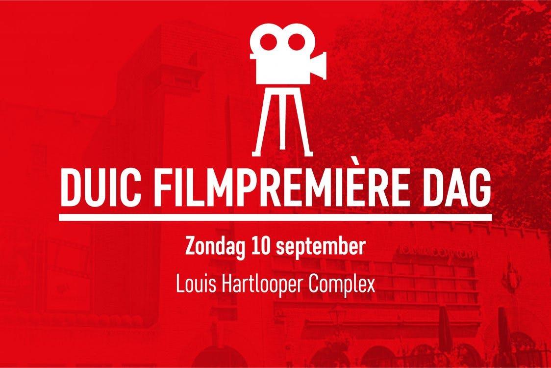 Zondag 10 september tweede editie DUIC Filmpremière Dag