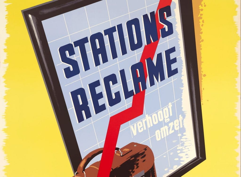 Utrechtse affiches: Reclame voor stationsreclame