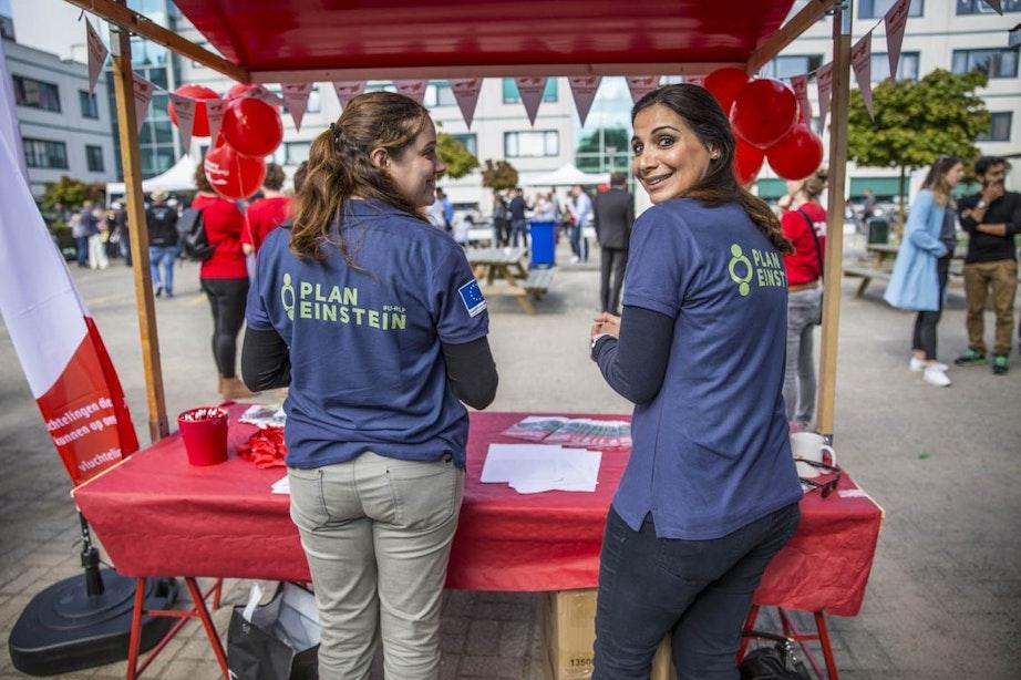 Foto's: Open dag AZC Plan Einstein in Overvecht
