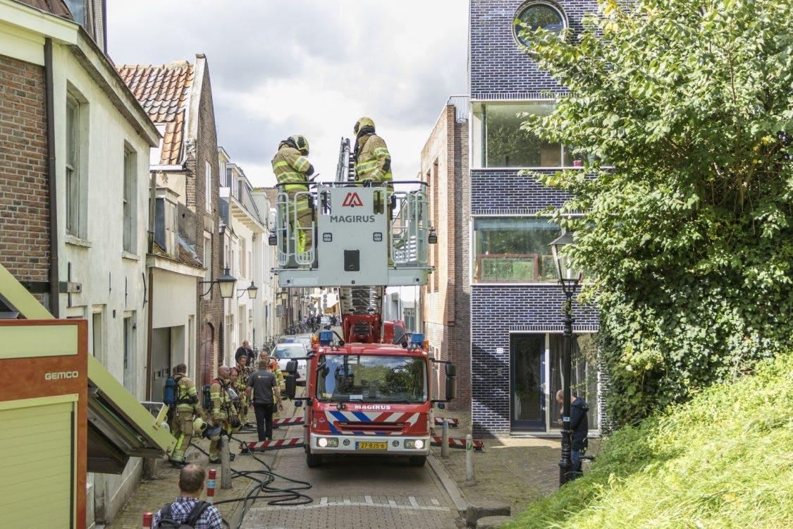 Uitslaande brand in centrum van Utrecht