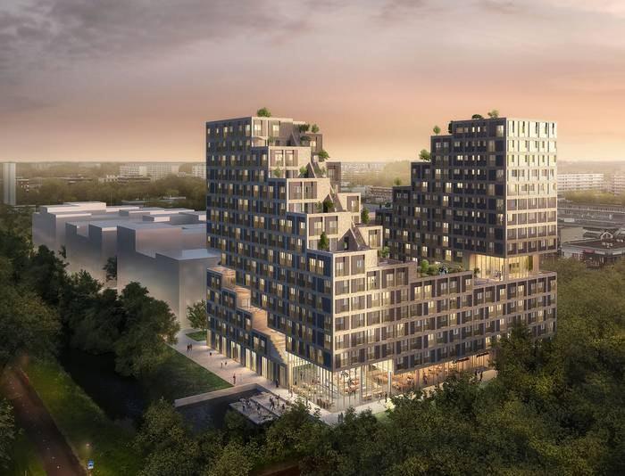 Plan NPD-strook Overvecht: 700 studentenwoningen en 360 appartementen voor senioren en starters