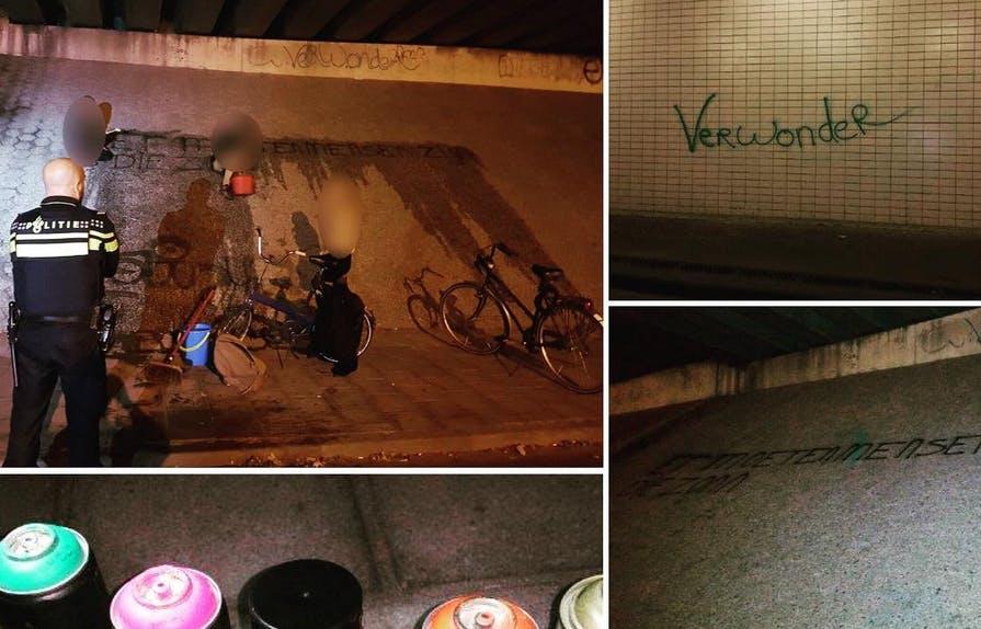 Graffitispuiters met cultureel besef: 'Dit zijn teksten van Wim Sonneveld'