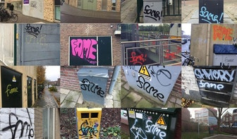Man gearresteerd voor plaatsen graffiti 'Fame' op honderden plekken in Utrecht