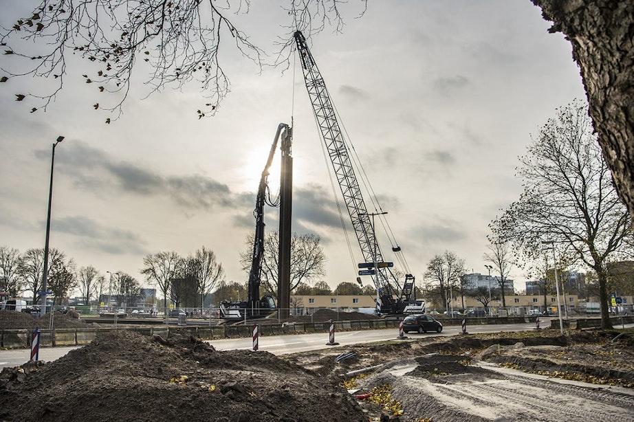 Vanaf maandag ernstige verkeershinder Anne Frankplein Utrecht; in juni 5 Meiplein aan de beurt