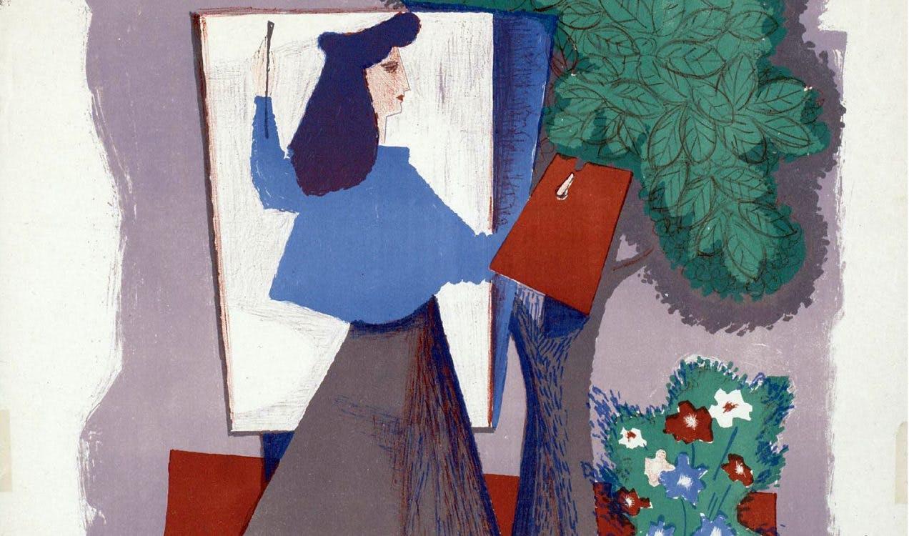 Utrechtse affiches: Vrouwen bij Kunstliefde in het Centraal Museum