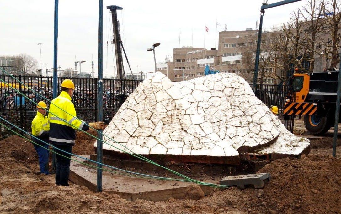 Kunstwerk Smakkelaarsveld verplaatst voor aanleg busbaan