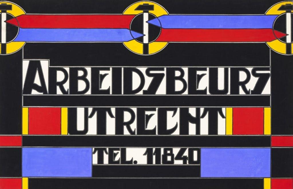 Utrechtse affiches: Een creatieve ambtenaar bij de Arbeidsbeurs