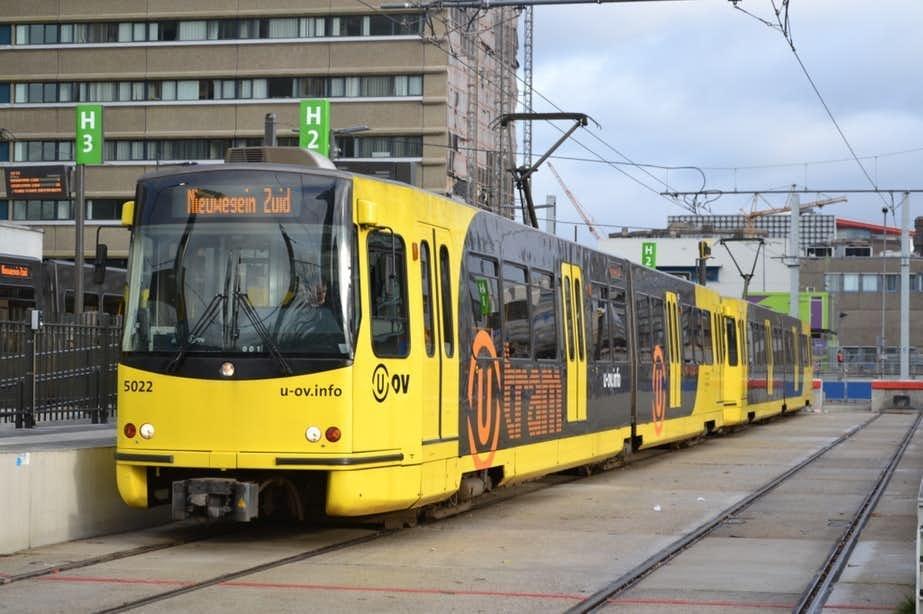 Geen trams tussen Utrecht en Nieuwegein vanwege aanrijding.