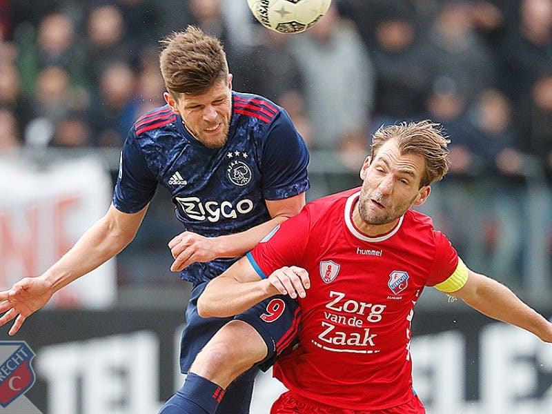 Ook Ajax krijgt FC Utrecht niet op de knieën in Galgenwaard