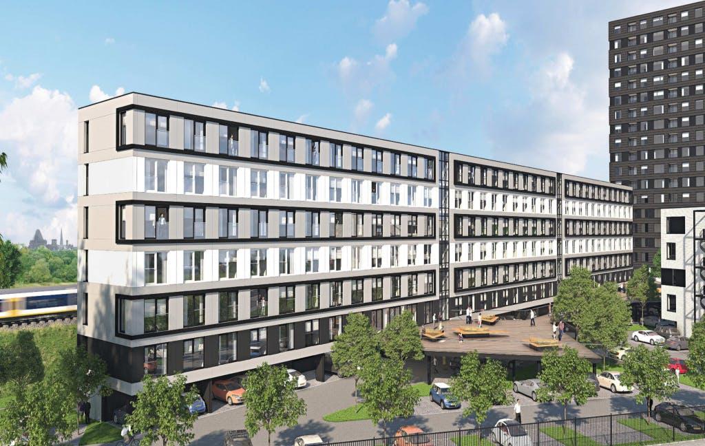 487 woningen op plek belastingkantoor Gerbrandystraat