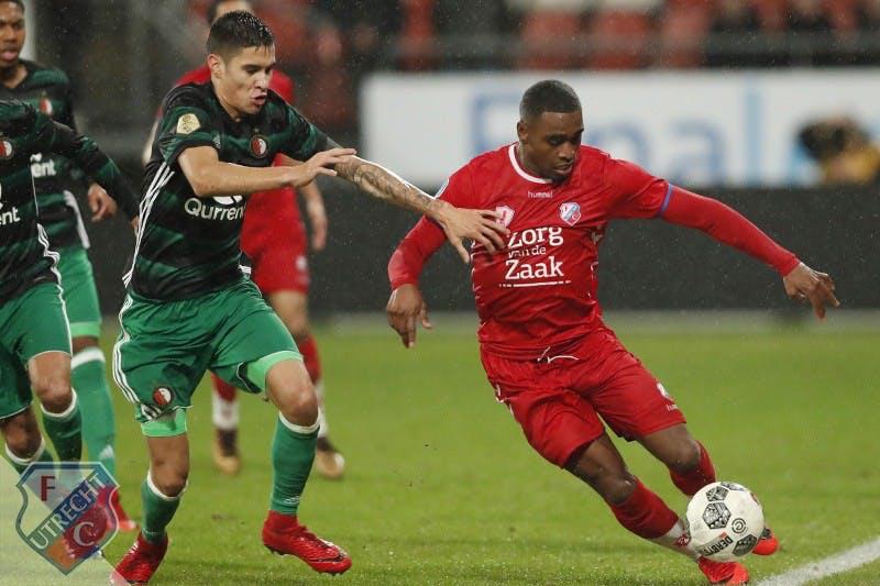 Strijdlustig FC Utrecht krijgt met gelijkspel tegen Feyenoord te weinig