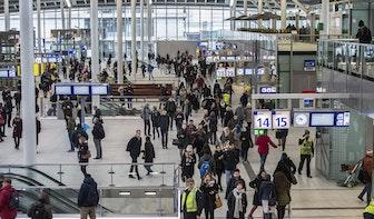 Waterproblemen op station Utrecht Centraal: geen koffie en waterballet