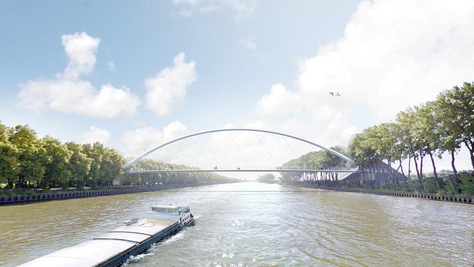 Plan voor nieuwe fietsbrug in Utrecht over Amsterdam-Rijnkanaal